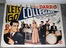 MANTAN MORELAND/GAIL STORM/FRANKIE DARRO 1941 movie poster LET'S GO COLLEGIATE