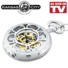 KANSAS CITY RAILROAD POCKET WATCH   AS SEEN ON TV! BRAND NEW!!!!