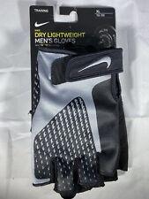 Nike Dry Lightweight Mens Training Lifting Gloves Black Dri-Fit Size XL