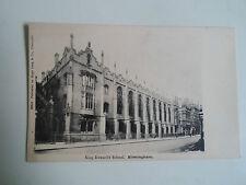 Vintage Postcard King Edward's School Birmingham Publisher Hugo Lang & Co