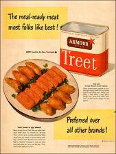 1945 vintage AD TREET Prepared MEAT Armour Star food product 092515)