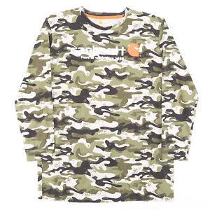 CARHARTT  Green Classic Long Sleeve T-Shirt Boys XL