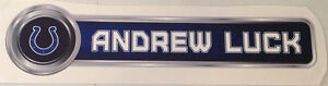 """Andrew Luck FATHEAD Official PLAYER NAME Banner Sign 27"""" x 6.5"""" Colts NFL Decal"""