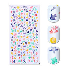 Water Decals Ocean Style Sea Horse Shell Starfish Nail Art Transfer Stickers DIY