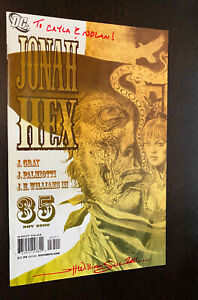 JONAH HEX #35 (DC 2008) -- SIGNED By J.H. Williams III -- VF