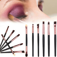 6 x Profi Make-up Pinsel Powder Foundation Lidschatten Eyeliner Hot