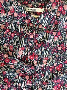 Sportscraft Ladies Shirt Size 14 100% Silk