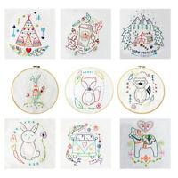 9 Styles Patterns DIY Handmade Embroidery Sampler Kit For Beginners Cross Stitch
