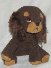 RUSS LUV PETS TINY SMALL MINI BEAN BAG DOG FARFEL CHOCOLATE BROWN TAN PLUSH TOY