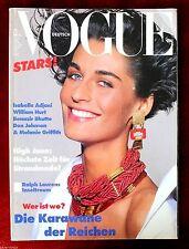 Vogue Deutsch Germany ~ June 1989 ~ Vanesa Duve Linda Evangelista Bruno Bisang