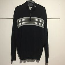 Sun River Clothing Men's Sweater Large Pullover 3/4 Zip Cotton