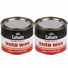 Collinite 476 18oz Large Super Double Coat Auto Wax Deatail Carnauba 476S 2 Pack