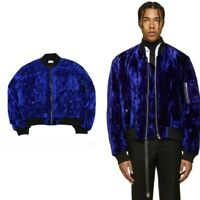 Haider Ackermann Style Crushed blue Velvet Jacket Oversized Yeezy L