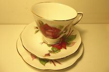 ROSLYN WHEATCRAFT ROSES TRIO GRAND GALA DURBEN PORCELAIN CHINA CUP SAUCER PLATE