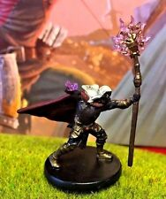 Drow Archmage D&D Miniature Dungeons Dragons pathfinder rage wizard warlock elf