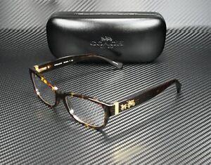 COACH HC6078 5120 Dark Tortoise Demo Lens 52 mm Women's Eyeglasses