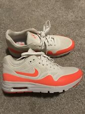 timeless design bf29a 533ce Nike Air Max 1 Ultra Moire Orange And White Women s Size 7