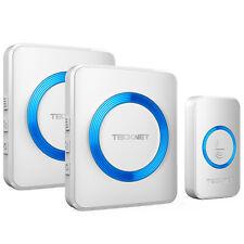 TeckNet Wireless Doorbell Twin Waterproof Plug-in Cordless Door Chime Kit 300M