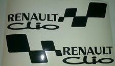 2x RENAULT CLIO Set Car/Window  Vinyl Decal Stickers (pair for left and right)