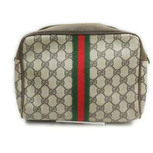 Gucci  Sherry Web Supreme GG Toiletry Pouch Cosmetic Bag 862223