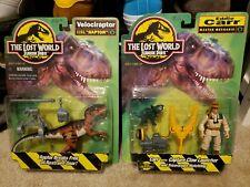 Lot Jurassic Park The Lost World Site B Raptor Velociraptor and Eddie Carr MOC
