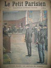 AFFAIRE ULLMO VERDICT MEMOIRES SARAH BERNHARDT V JOURNAL LE PETIT PARISIEN 1908