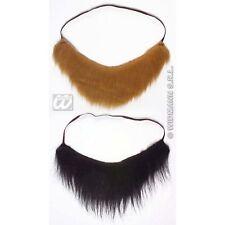Pirate Beard 2 Brown Black Explorer Facial Hair Ship Fancy Dress Accessory