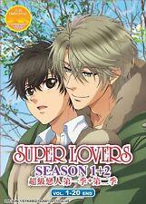 DVD Anime SUPER LOVERS Complete Series Season 1+2 (1-20 End) English Subtitle
