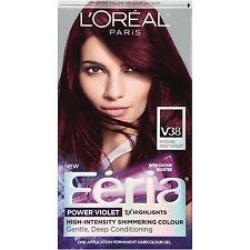 LOreal Paris Feria Hair Color, V38 Intense Deep Violet