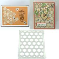 Honeycomb Metal Cutting Dies Scrapbooking Stencil DIY Album PaperCard Mold Decor