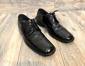 Gucci Patent Leather Derby Dress Shoes Men Size 8.5 D Made In Italy