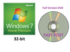 Windows 7 Home Premium 32-Bit DVD de instalación de arranque Versión Completa SP1 Disco Cd