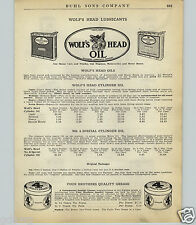 1924 Paper Ad Wolf's Head Motor Oil Wolverine Company Rectangle Can Gargoyle