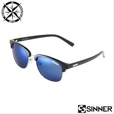 SINNER 'CASCAIS' WOMENS SUNGLASSES BLACK + POLYCARB BLUE MIRROR LENS RRP £35