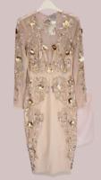 ASOS Embellished Mesh Ergonomic Bodycon Midi Dress UK 12 LN007 NN 07