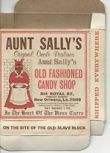 Vintage Aunt Sally's Praline Candy Box Advertising mid 70's empty