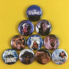 "The Thing 1"" Button Pin Set John Carpenter Horror Kurt Russel Cult Classic"