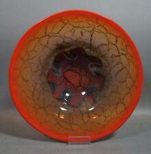 Art Déco Schale Glasschale - WMF IKORA - Klarglas roter Rand Onyxeinschmelzungen