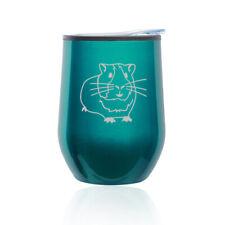 Stemless Wine Tumbler Coffee Travel Mug Glass Cup w/ Lid Guinea Pig