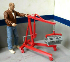 Hoist with Engine Block Kit 1/10 Scale Action Figure Crawler Dollhouse