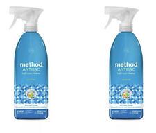 2 Pack - Method Antibacterial Bathroom Spray, Spearmint, 28 oz Bottle (MTH01152)