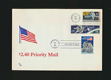 #C76 MOON LANDING Combination FDC w/ 1331-2 + #2419 Priority Moon First Day Canc