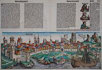 Colonia - Köln - Schedel 1493 - Altkoloriertes Original - Cologne