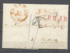 """ZAANDAM 16.MAART.1835 """"L.P.5.R."""" 'HOLLANDE PAR VALLENCIENNES' BORDEAUX     Hc119"""