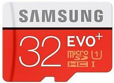 SAMSUNG EVO Plus 32GB MicroSD Micro SDHC C10 Flash Memory Card with Adapter