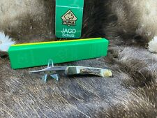 1977 Puma 900 Earl Stag Handle Knife Solingen Germany Mint In Green / Yellow Box