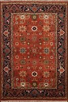 All-Over Pattern RUST 4x6 Heriz Oriental Traditional Area Rug Hand-Knotted Wool