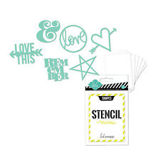 Heidi Swapp 12 PACK MINI STENCIL KIT- SHAPES scrapbooking COLLAGE mixed media