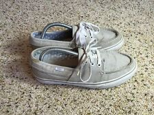 Vans Gray Deck Boat Dock Style Shoes Mens 8.5 See Details For Defect Ked