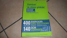 EXERCICES DE CHIMIE GÉNÉRALE - 3è édition revue et augmentée - Presse univ - BE